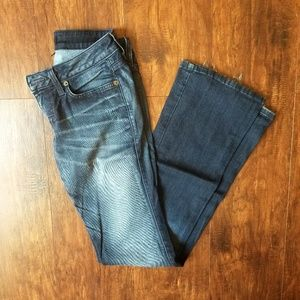 Bebe Flare Blue Jeans Size 27